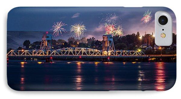Street Fireworks By The Blue Bridge IPhone Case