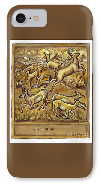 Study For Pronghorn And Deer Sculpture IPhone Case