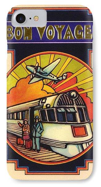 Stylized Bon Voyage Vintage Poster IPhone Case