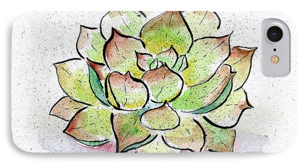 Desert iPhone 8 Case - Succulent by Diane Thornton