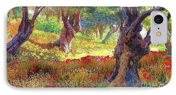 Tranquil Grove Of Poppies And Olive Trees IPhone Case