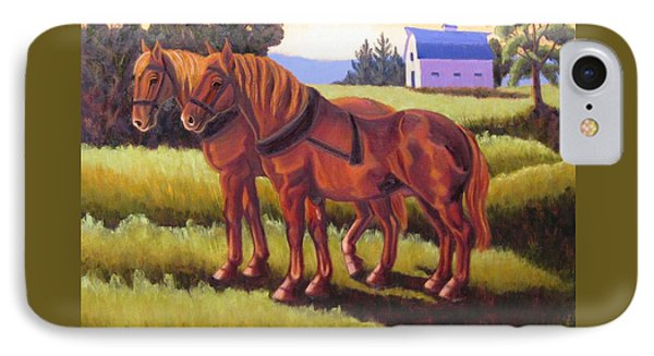 Suffolk Punch Day Is Done IPhone Case
