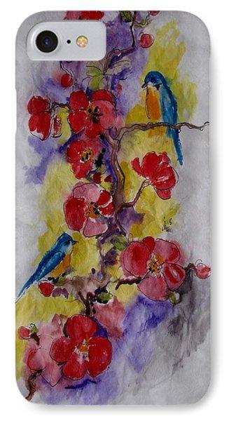 Summer Bluebirds IPhone Case