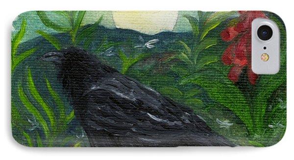 Summer Moon Raven IPhone Case