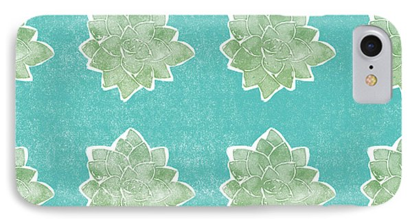 Summer Succulents- Art By Linda Woods IPhone Case