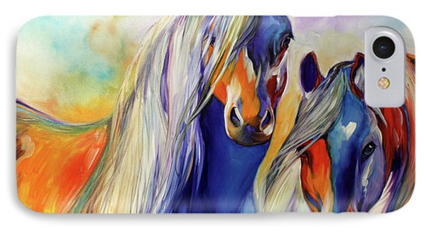 Sun And Shadow Equine Abstract IPhone Case