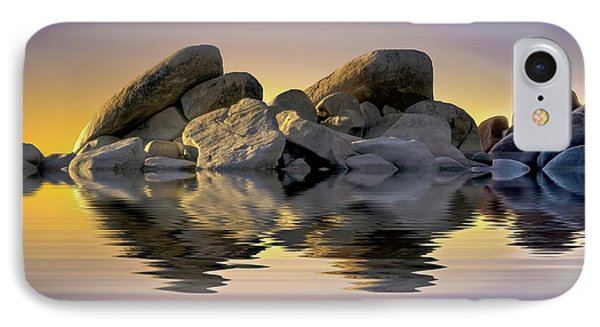 Sun Bathed Rocks IPhone Case