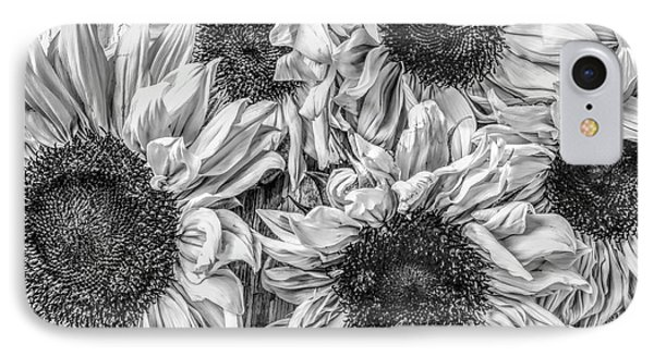 Sunflower Line Drawing : Black and white sunflower iphone 8 cases fine art america