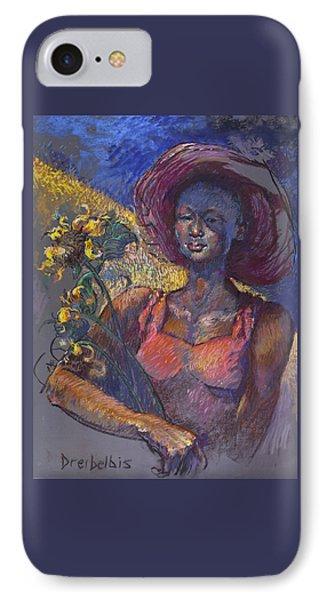 Sunflower Woman IPhone Case