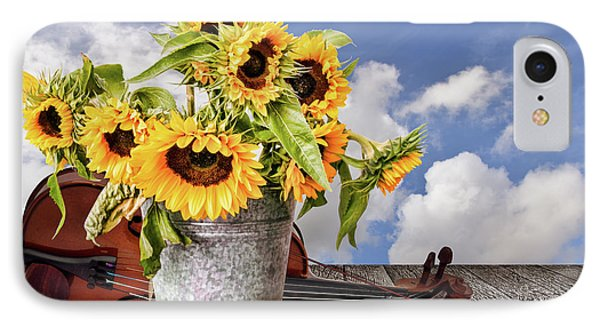 Sunflowers With Violin IPhone Case