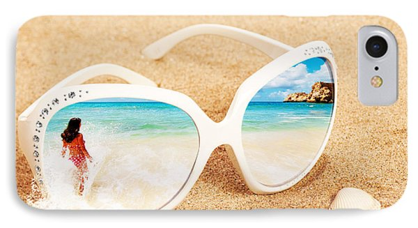Sunglasses In The Sand IPhone Case