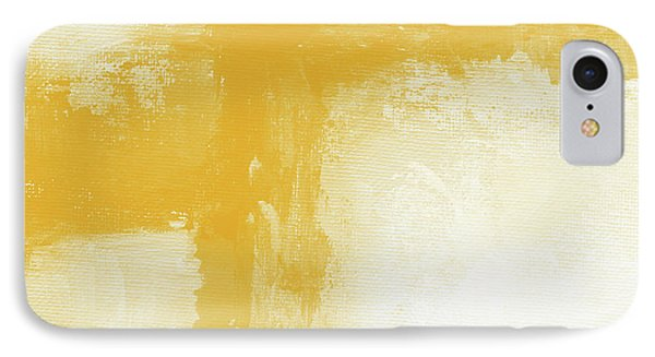 Mustard iPhone 8 Case - Sunny Day- Abstract Art By Linda Woods by Linda Woods