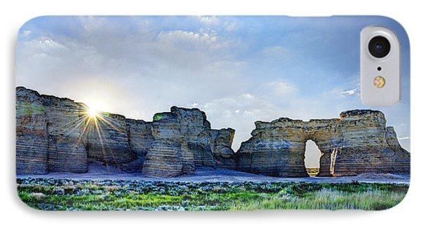 Sunrise At Monument Rocks IPhone Case