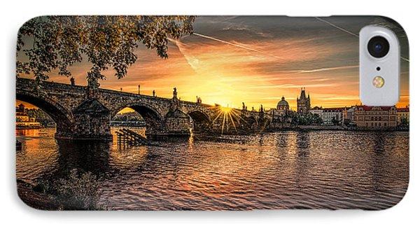 Sunrise At The Charles Bridge IPhone Case