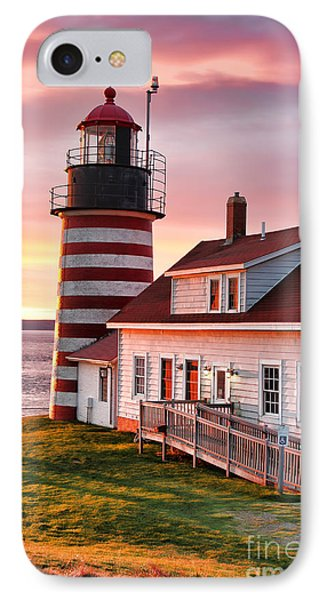 West Quoddy Head Lighthouse 3747 IPhone Case