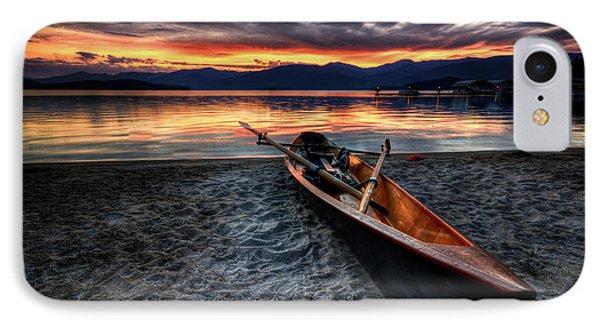 Boat iPhone 8 Case - Sunrise Boat by Matt Hanson