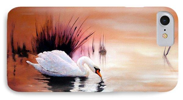 Sunrise On Swan Lake IPhone Case