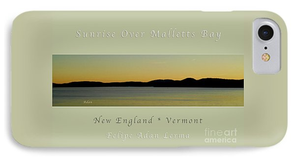 Sunrise Over Malletts Bay Greeting Card And Poster - Six V4 IPhone Case