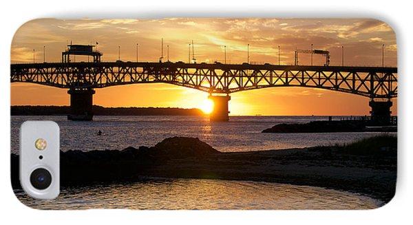 Sunrise Under Coleman Bridge IPhone Case