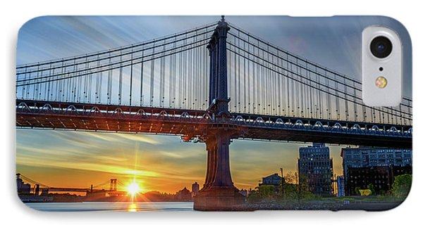 Sunrise Under The Manhattan Bridge IPhone Case