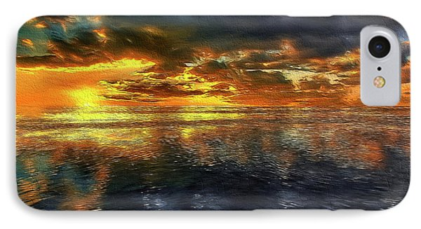 Sunset #95 Or Sunset Over The Atlantic. IPhone Case