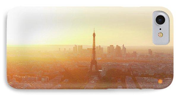 Sunset Above Paris IPhone Case