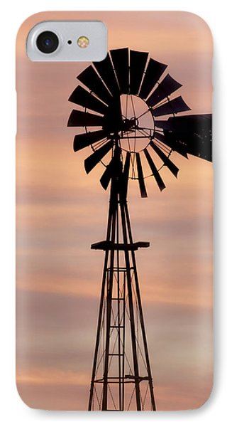 Sunset And Windmill 06 IPhone Case