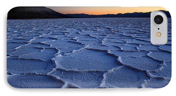 Sunset At Badwater In Death Valley IPhone Case