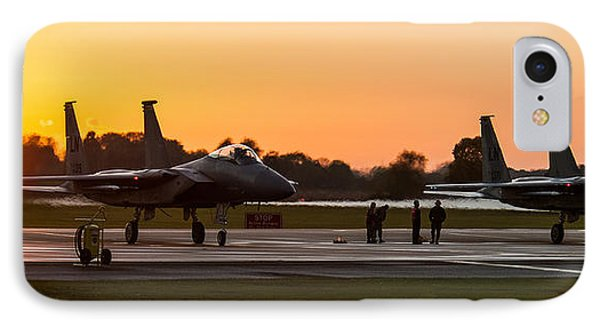 Sunset At Raf Lakenheath IPhone Case