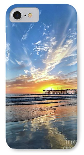 Sunset At The Pismo Beach Pier IPhone Case