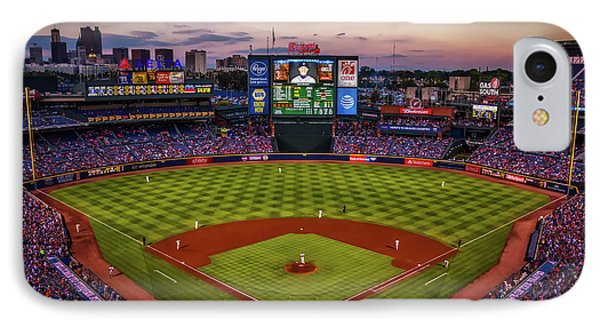 Sunset At Turner Field - Home Of The Atlanta Braves IPhone Case
