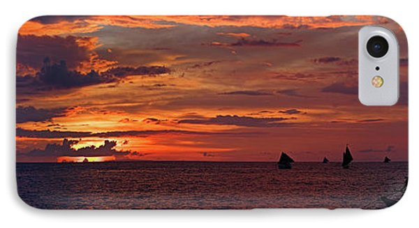 sunset at White Beach IPhone Case