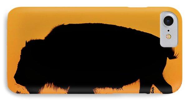 Sunset Bison 2 IPhone Case