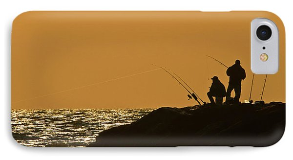 Sunset Fishermen IPhone Case