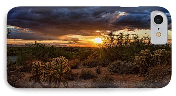 IPhone Case featuring the photograph Sunset From The Hill  by Saija Lehtonen