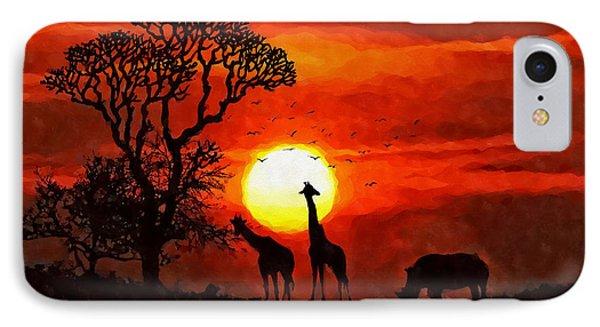 Sunset In Savannah IPhone Case