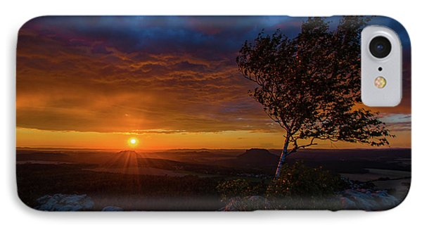 Sunset In Saxonian Switzerland IPhone Case