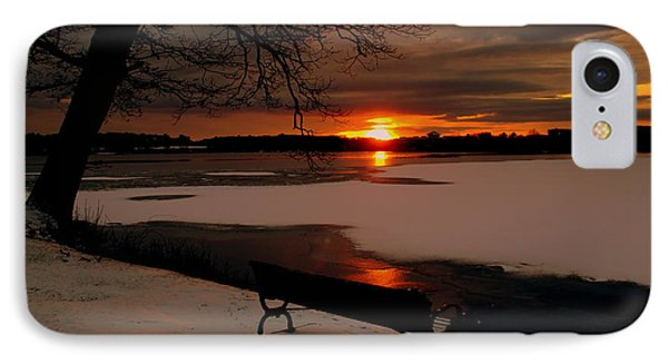 Sunset On Lake Quanapowitt IPhone Case