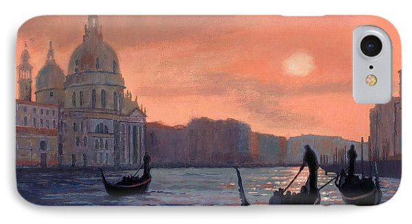 Sunset On The Grand Canal In Venice IPhone Case
