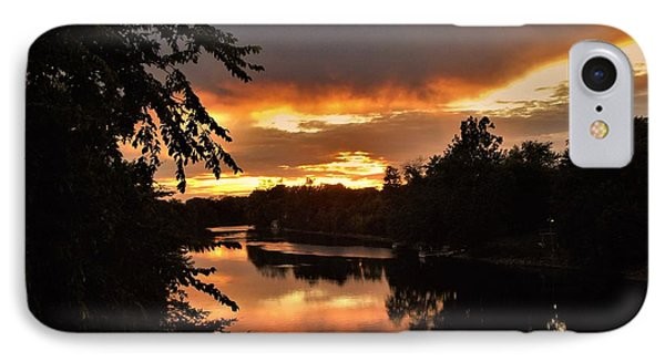 Sunset On The River            Autumn            Indiana IPhone Case