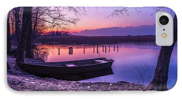 Sunset On The White Lake IPhone Case