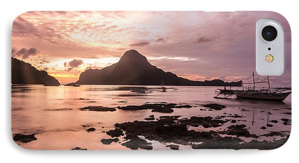 Sunset Over El Nido Bay In Palawan In The Philippines IPhone Case