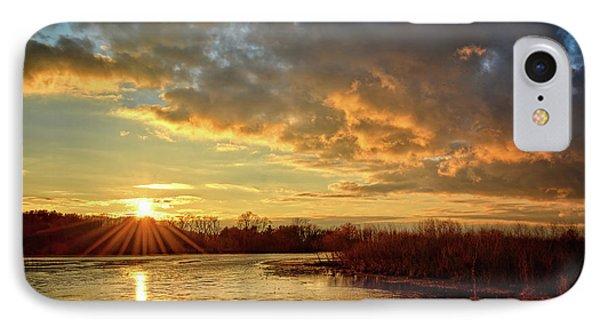 Sunset Over Marsh IPhone Case