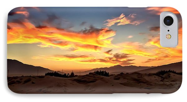 Sunset Over The Desert IPhone Case