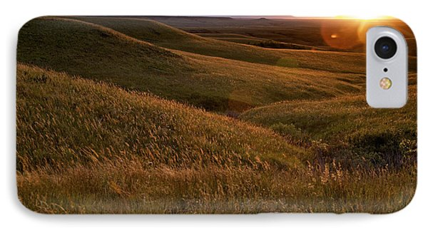 Sunset Over The Kansas Prairie IPhone Case