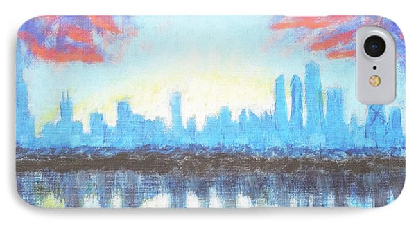 Sunset Skyline - Chicago, Il. IPhone Case