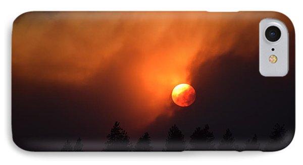Sunset Through Smoke IPhone Case