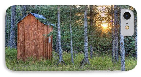 Sunset Through Spruce IPhone Case