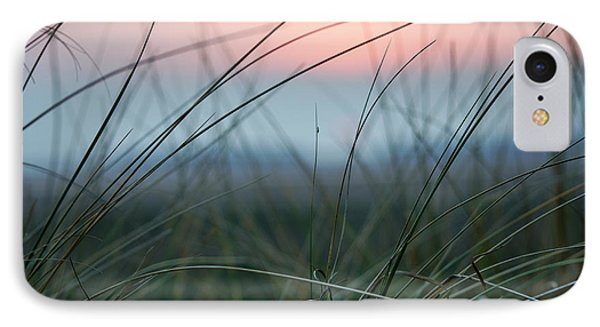 Sunset  Through The Marsh Grass IPhone Case