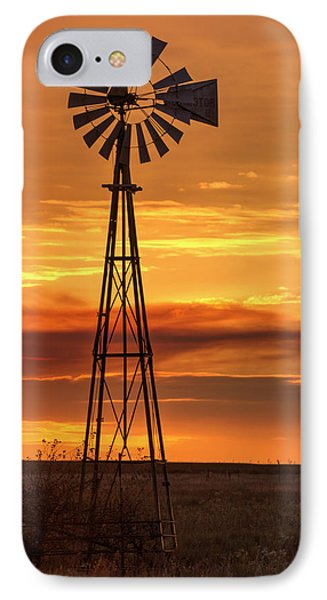 Sunset Windmill 01 IPhone Case